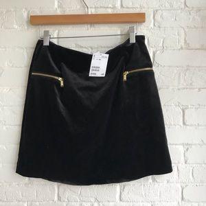 NWT H & M Black & gold mini Skirt Medium New